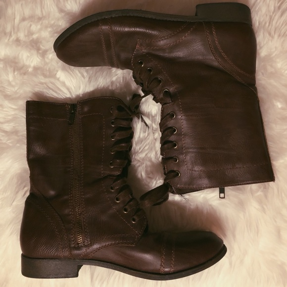 Rampage Shoes Combat Boots From Belk Poshmark